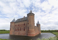 West façade of the Muiden Castle - Muiden, Netherlands