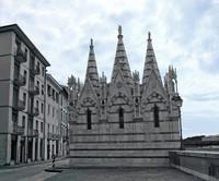 Facciata posteriore di Santa Maria della Spina ad infrarossi - Pisa, Italia