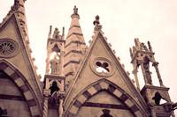 Dettaglio della facciata posteriore di Santa Maria della Spina - Pisa, Italia