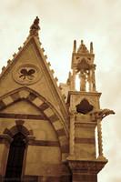 Detail of the back façade of the church of Santa Maria della Spina - Pisa, Italy