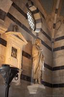 Statue de Saint Jean le Baptiste dans Santa Maria della Spina - Pise, Italie