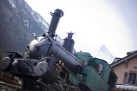 Locomotive next to a train station in Chamonix - Chamonix, France