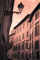 Una strada di Pisa ad infrarossi - Pisa, Italia