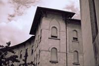 A building in Vittorio Emanuele II Square in infrared - Pisa, Italy