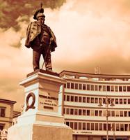Statua del re Vittorio Emanuele II - Pisa, Italia