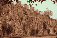 The medieval wall of the ancient Republic of Pisa - Infrared version - Pisa, Italy