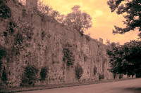 The medieval wall of Pisa in infrared - Pisa, Italy