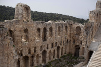 Internal façade of the Odeum or Odeon of Herodes Atticus - Athens, Greece