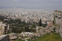 View of Athens and the Agora from the Acropolis - Athens, Greece