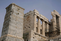 North wing of the Propylaea in the Acropolis - Athens, Greece
