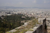 The Temple of Hephaestus in the Ancient Agora as seen from the Acropolis - Athens, Greece