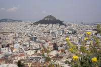 Mount Lycabettus as seen from the Acropolis - Athens, Greece