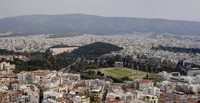 Panoramic view of the Temple of Olympian Zeus in Athens - Athens, Greece