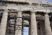 Restoration works of the Parthenon in 2014 - Athens, Greece