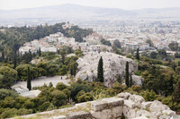 Areopagus as seen from the Acropolis - Athens, Greece