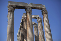 Detail of the Corinthian columns of the Temple of Olympian Zeus - Athens, Greece