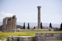 View from the west side of the Temple of Olympian Zeus or Olympieion - Athens, Greece