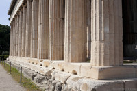 Detail of the columns of the Temple of Hephaestus - Athens, Greece