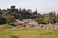 Ancient Agora and Temple of Hephaestus - Athens, Greece