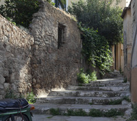 A street on a slope of the Acropolis hill - Athens, Greece