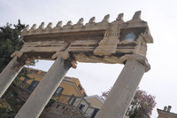 Architrave above the Ionic columns of the Roman Agora of Athens - Athens, Greece
