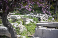 Archaeological remains in the Roman Agora next to the Tower of the Winds - Athens, Greece