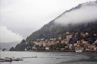 Shore and hills of Como - Como, Italy