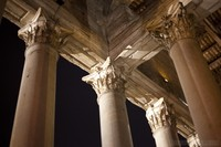 Top end of the Corinthian columns in the portico of the Pantheon