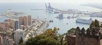 Malagueta and Port of Malaga - Malaga, Spain