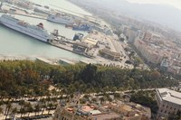Malaga panoramic view, Spain