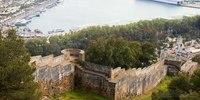 Part of the south wall of Gibralfaro Castle - Malaga, Spain