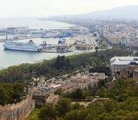 Malaga and the port from Gibralfaro - Malaga, Spain