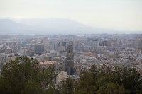 The city of Malaga from the Gibralfaro Castle - Malaga, Spain