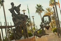 Three sculptures in Avenida del Mar - Marbella, Spain