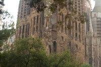 Sagrada Familia façade as seen from Gaudí square - Barcelona, Spain