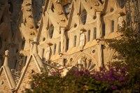 Detail of the southwest façade of the Sagrada Familia - Barcelona, Spain