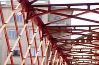 Detail of the Eiffel bridge of Girona - Girona, Spain