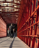 Peixateries Velles bridge or Eiffel bridge of Girona - Girona, Spain