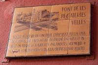 Commemorative plaque of the Eiffel bridge - Girona, Spain