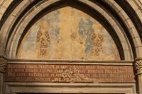 Tympanum and archivolt of the Sant Feliu basilica - Girona, Spain