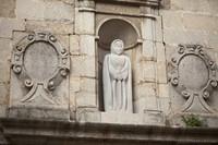 Façade of the Church of Sant Lluc - Girona, Spain