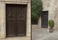 Doors of the Sant Lluc church - Girona, Spain