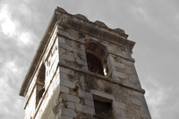 Bell tower of the Church of Sant Lluc - Girona, Spain