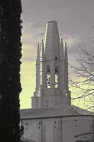 La basilica di Sant Feliu ad infrarossi - Girona, Spagna