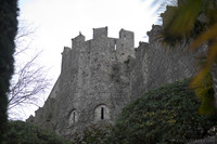 Girona wall and Julia tower from the Carolingian period - Girona, Spain