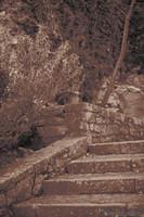 Scala del percorso archeologico ad infrarossi - Girona, Spagna