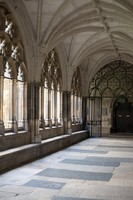 East cloister of Westminster Abbey - London, England