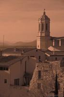 La cattedrale di Girona e gli edifici adiacenti - Girona, Spagna