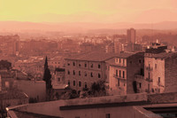 Girona's Historic Center and Eixample Nord neighborhood from the city wall - Girona, Spain