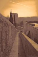 Adarve de la muralla - Girona, España